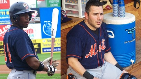 Endy Chavez and Paul Lo Duca / Photos by Mike Ashmore