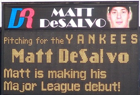 Matt DeSalvo's MLB Debut / Photo by Mike Ashmore
